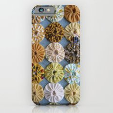 Quilted Yoyos in Yellow pattern by robayre iPhone 6s Slim Case