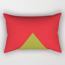 Colored 2d pyramids, with no perspective. They also could be triangular waves. Rectangular Pillow