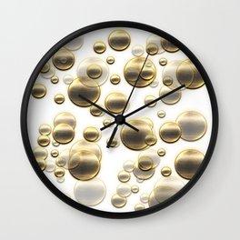 Gold Shower Wall Clock
