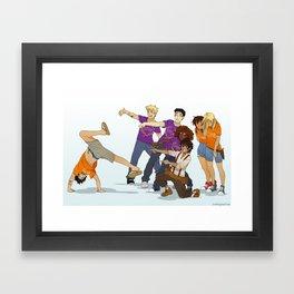 Demigod Squad Framed Art Print
