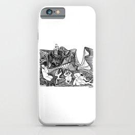 Pablo Picasso Bacchanale au hibou (Bacchanale with Owl), 1959 Artwork, Design For Tshirts, Posters, Prints iPhone Case