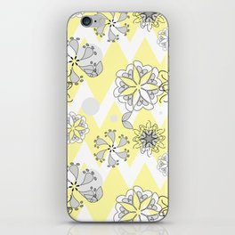 Chevron Flower print iPhone Skin