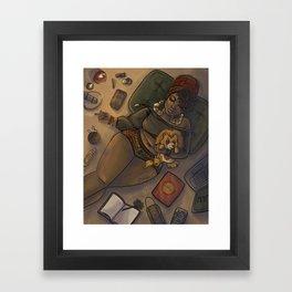 Quarantine Bae 3  Framed Art Print