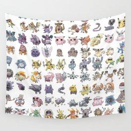 Pokémans! 151 Lazy-Drawn Pocket Monsters ( Wall Tapestry