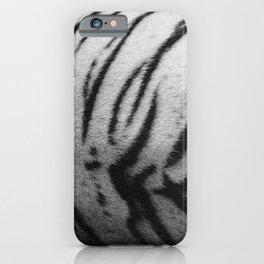 Pattern white tiger fur, tiger stripes iPhone Case