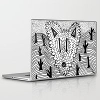 coyote Laptop & iPad Skins featuring Coyote by Catolyn