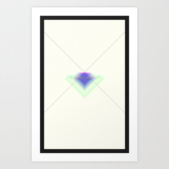 Paper Diamonds Art Print