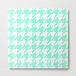 Tiffany Houndstooth Pattern Metal Print