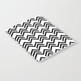 Broken Chevrons Black and White Notebook