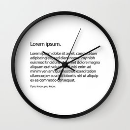 Graphic Designers - A must see for you... If you know.You know. Wall Clock