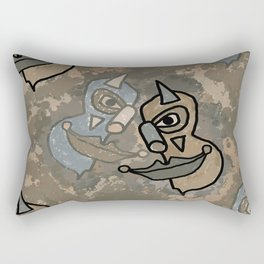 Wild Clowns Rectangular Pillow