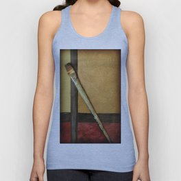 Artist Brush On Abstract Copper Canvas Artwork - Vintage - Modern Art - Painter Unisex Tank Top