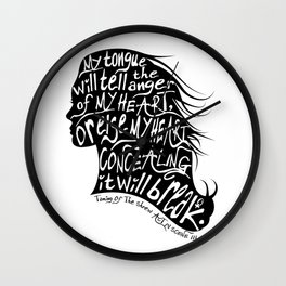 Speak Your Anger Wall Clock