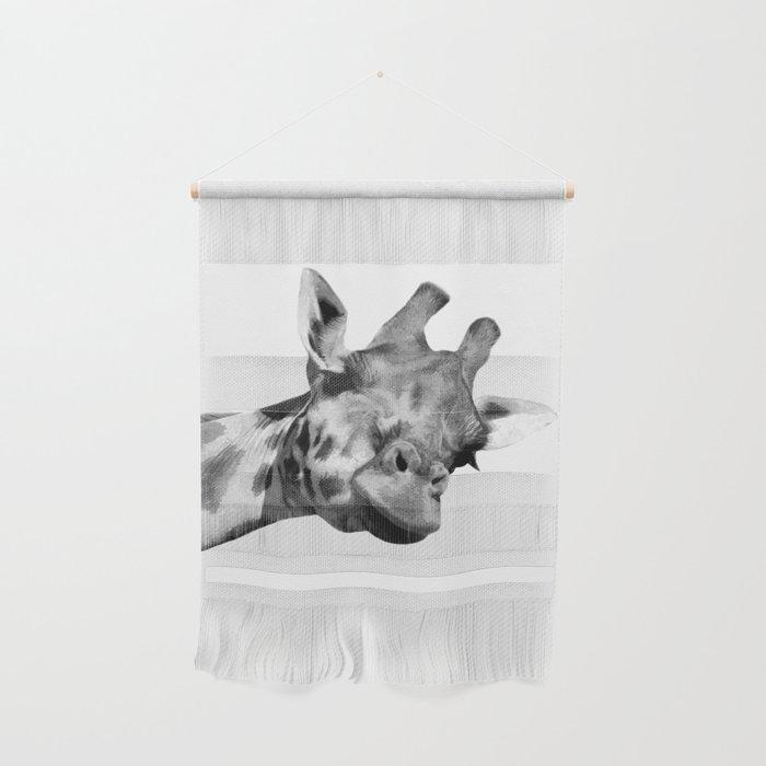 Black and white giraffe Wall Hanging