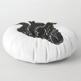 Black Heart II Floor Pillow