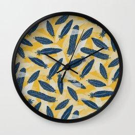 Guinea Fowl Feathers Wall Clock