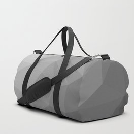 LOWPOLY BLACK AND WHITE Duffle Bag