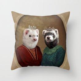 Skittle & Belette Throw Pillow