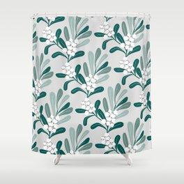 Mistletoe Pattern Shower Curtain