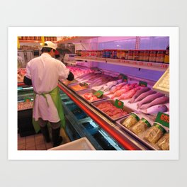 Chinatown Fish Market - ( Lunar New Year in New York City: 2010 ) Art Print