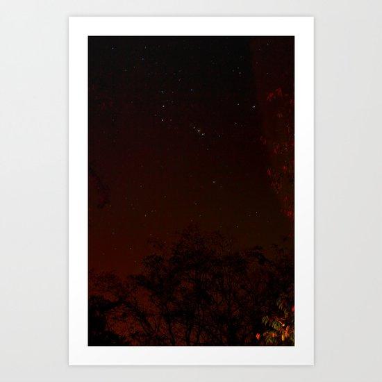 warm stars Art Print