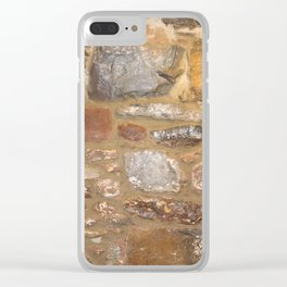 1890 Rock wall Clear iPhone Case