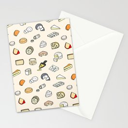 Cheese pattern Stationery Cards