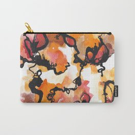 Fiery Petals Carry-All Pouch