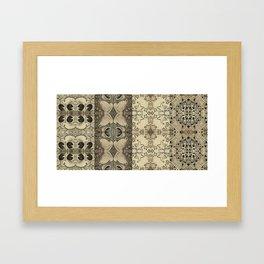 Da Santa Pattern Framed Art Print