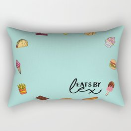 FOOD CLOCK Rectangular Pillow
