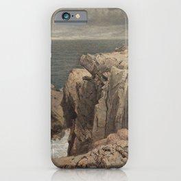 Cormorant Cliff, Jamestown, Rhode Island  1877 iPhone Case