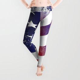 American Flag and Bald Eagle Leggings
