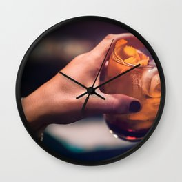 Cocktaill Style in Hand Wall Clock