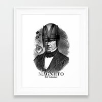 magneto Framed Art Prints featuring MAGNETO by DIVIDUS