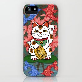 Japanese Lucky Cat iPhone Case