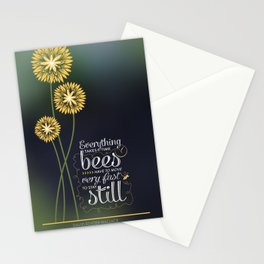 David Foster Wallace on Bees  Stationery Cards