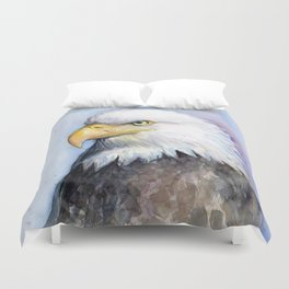 Bald Eagle Watercolor Bird Wildlife Animals Duvet Cover