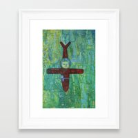 pilot Framed Art Prints featuring Pilot by cathie joy young