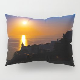 Oia sunset i Pillow Sham
