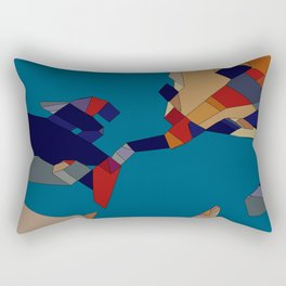 onBlue Rectangular Pillow