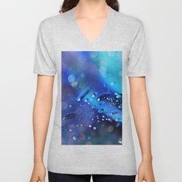 Abstract blurs sapphirine Unisex V-Neck