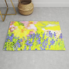 Yellow & Blue Rug