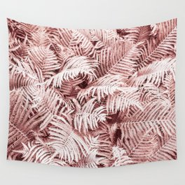 Fern Bush Blush Pink   Bedroom Art Wall Tapestry
