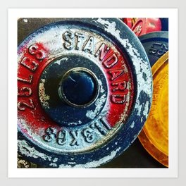 Weight Plate 25 Art Print