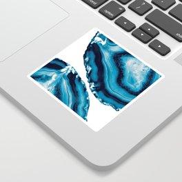 Blue Agate #3 #gem #decor #art #society6 Sticker