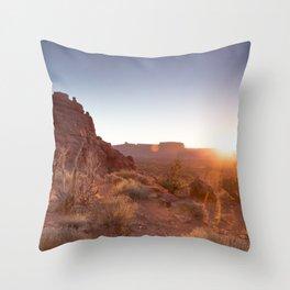 Setting Desert Sun Throw Pillow