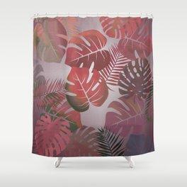 Tropical Autumn Leaves Shower Curtain