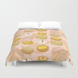 Dimsum everywhere! [peach] Duvet Cover