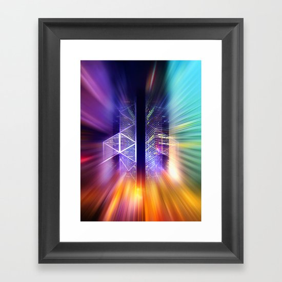 GOLDEN MOTION - Abstract Surrealism Framed Art Print
