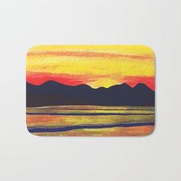 Salish Sea Sunset Bath Mat